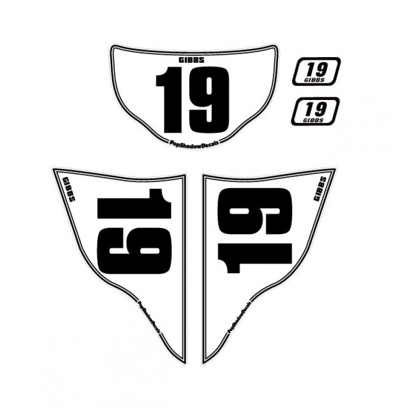 racing number plate stickers bahuma sticker
