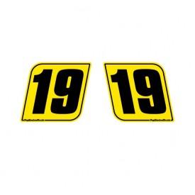 Side number plates
